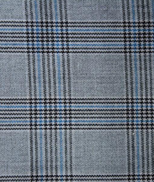 Principe de Gales (Kaltex) Negro y Azul 2